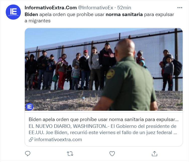 Biden impugna fallo juez: Solo para migrantes que viajen con niños