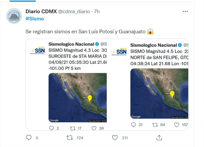 Sismo Guanajuato SLP México: Las alertas se activaron