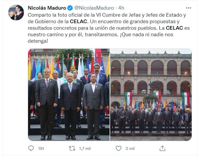 AMLO recibe Nicolás Maduro: El comunicado de la organización