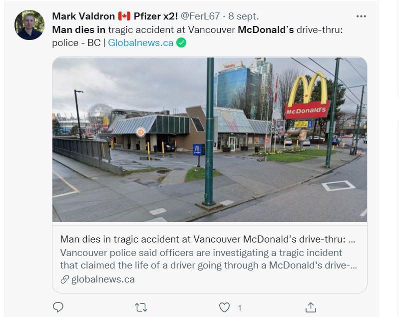 No ha sido el único incidente en un Drive-thru