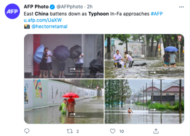 tifón china