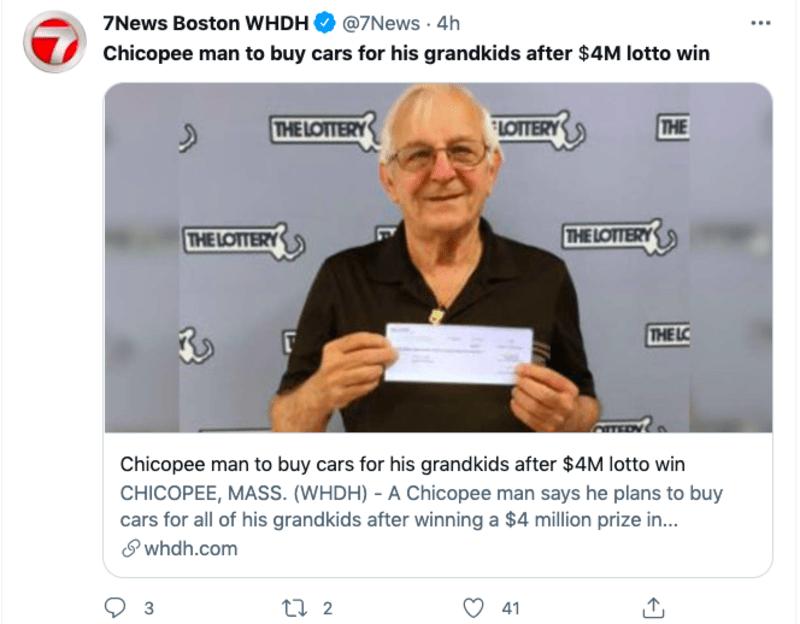 abuelo gana la lotería