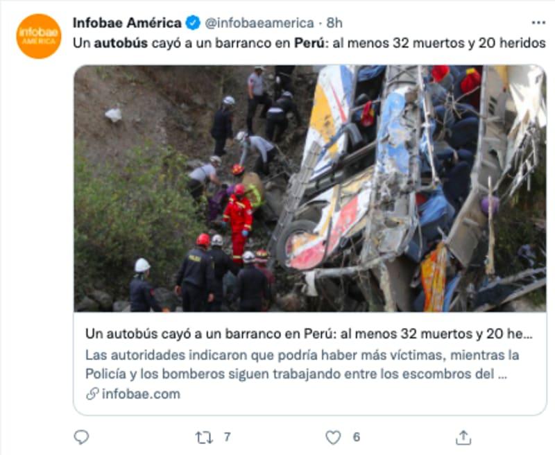 accidente autobús perú