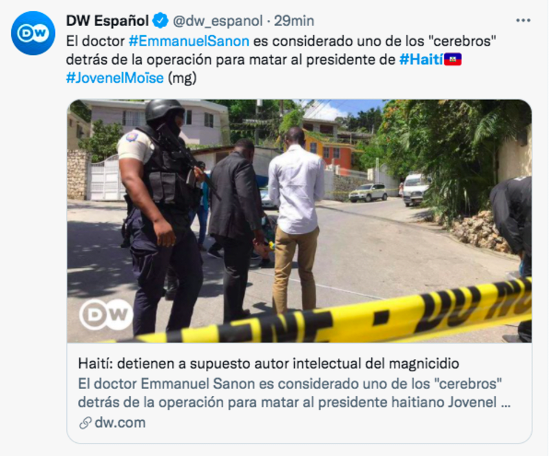Policía de Haití detiene a Christian Emmanuel Sanon