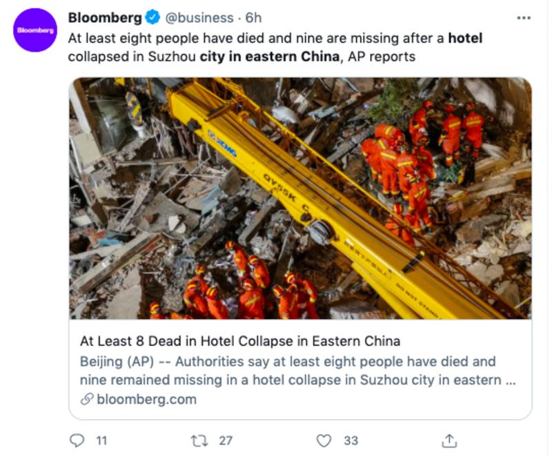 derrumbe hotel china