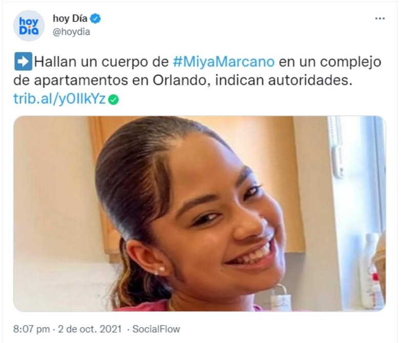 Localizan cadáver Miya Marcano: Principal sospechoso