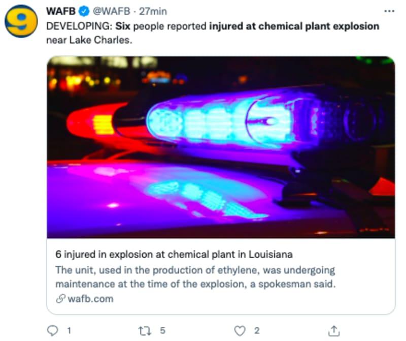 explosión planta química