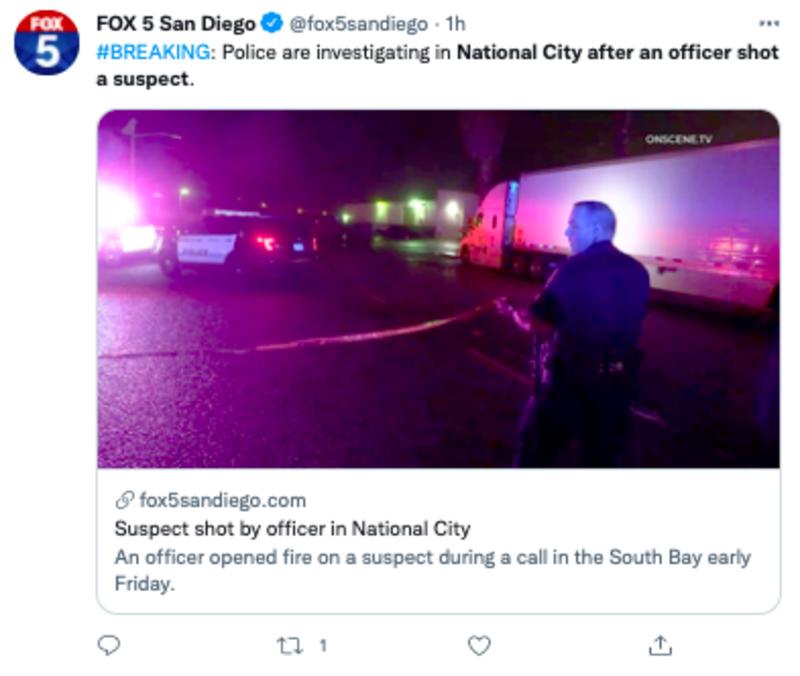 tiroteo policía california
