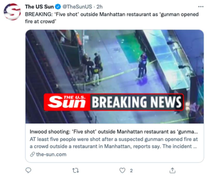tiroteo restaurante nueva york