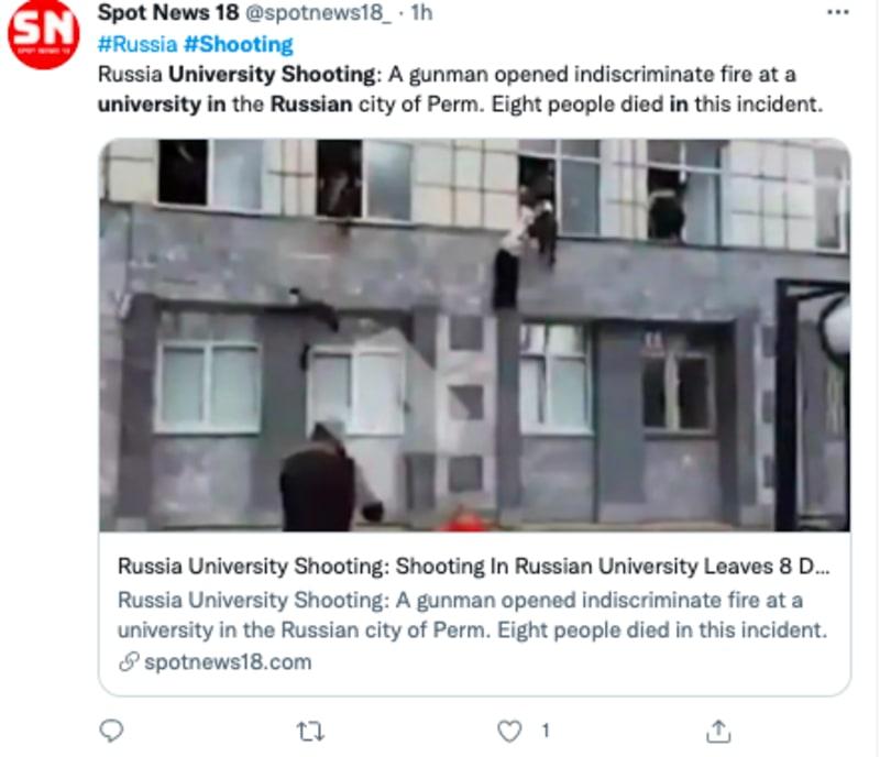tiroteo universidad rusia