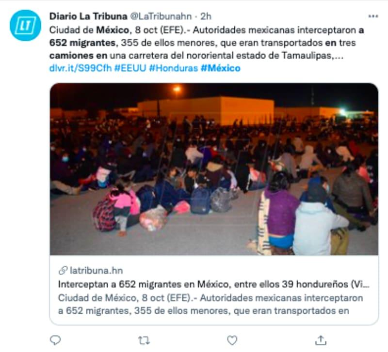 inmigrantes camiones