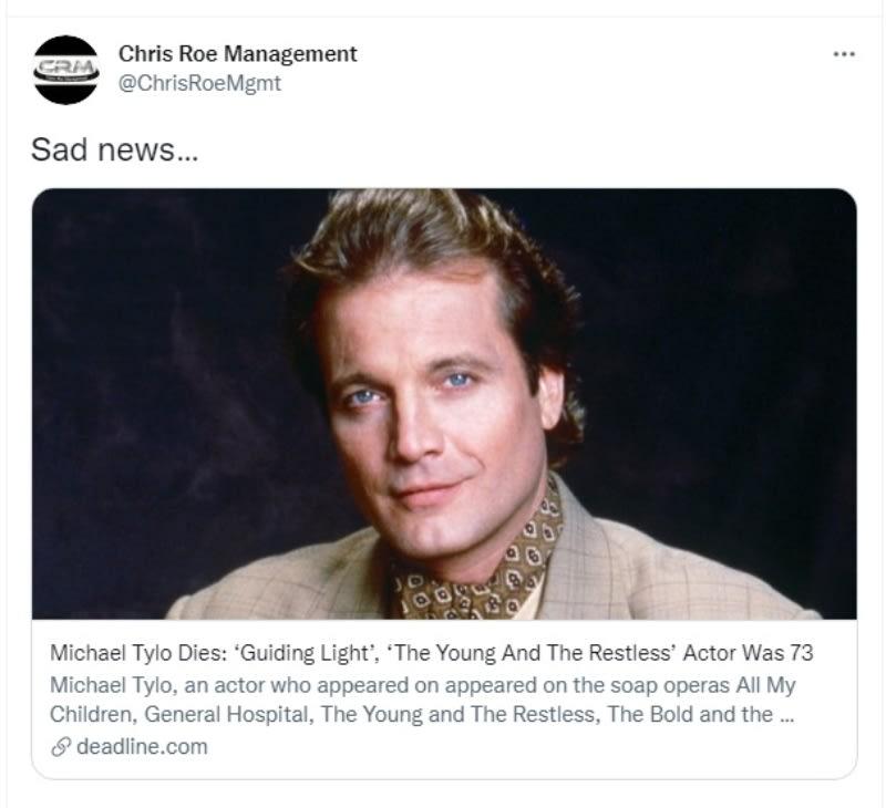 Muere actor Michael Tylo