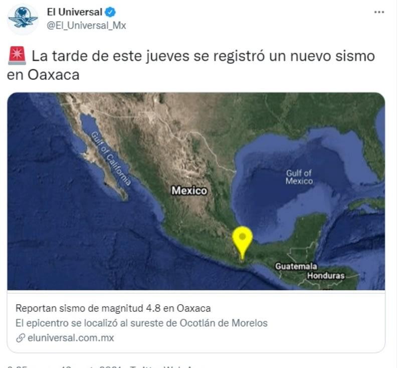 Sismo México Oaxaca