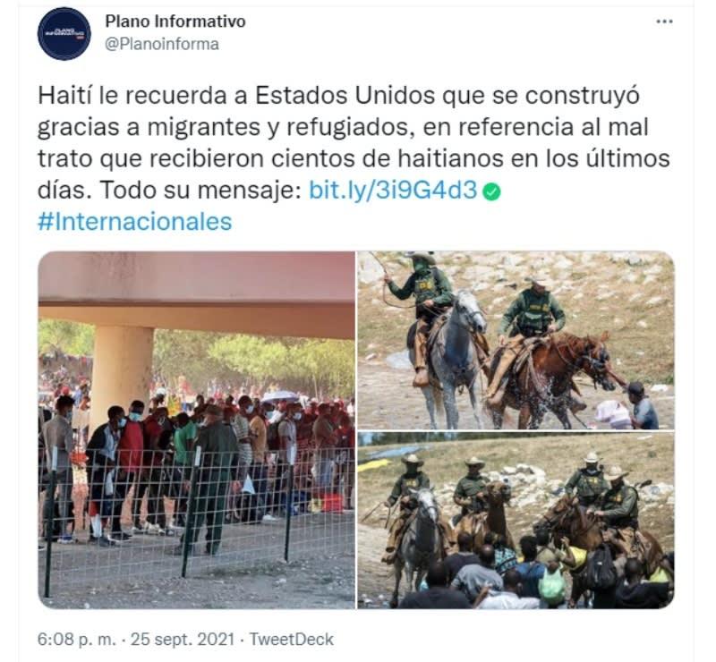 Haití responde migrantes frontera: Este acto haconmocionado a mucha gente