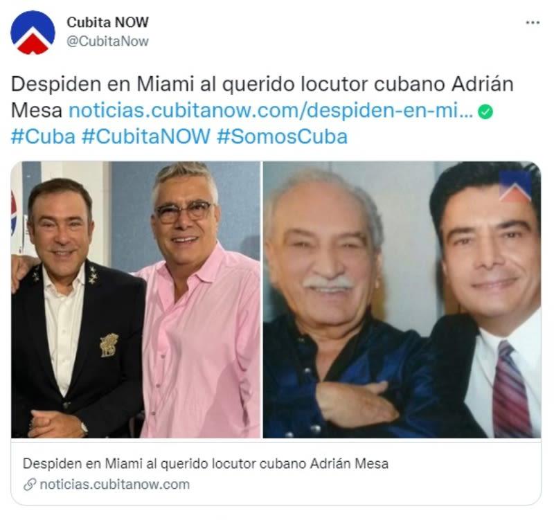 Muere locutor Adrián Mesa: Despedida de sus colegas