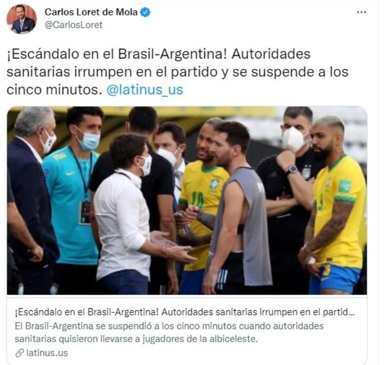 Partido futbol Brasil Argentina deportar argentinos: Una violación al protocolo de sanidad
