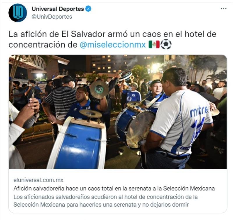 Afición salvadoreña provoca caos total en la serenata al Tri