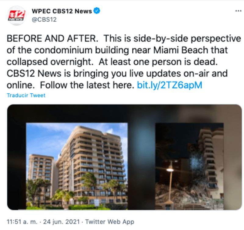 derrumbe edificio en miami: se desconocen las causas