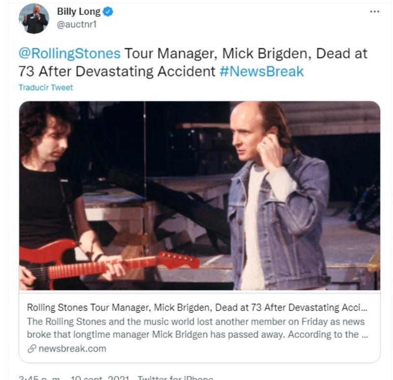 Rolling Stones manager Mick Brigden dies: a great legacy