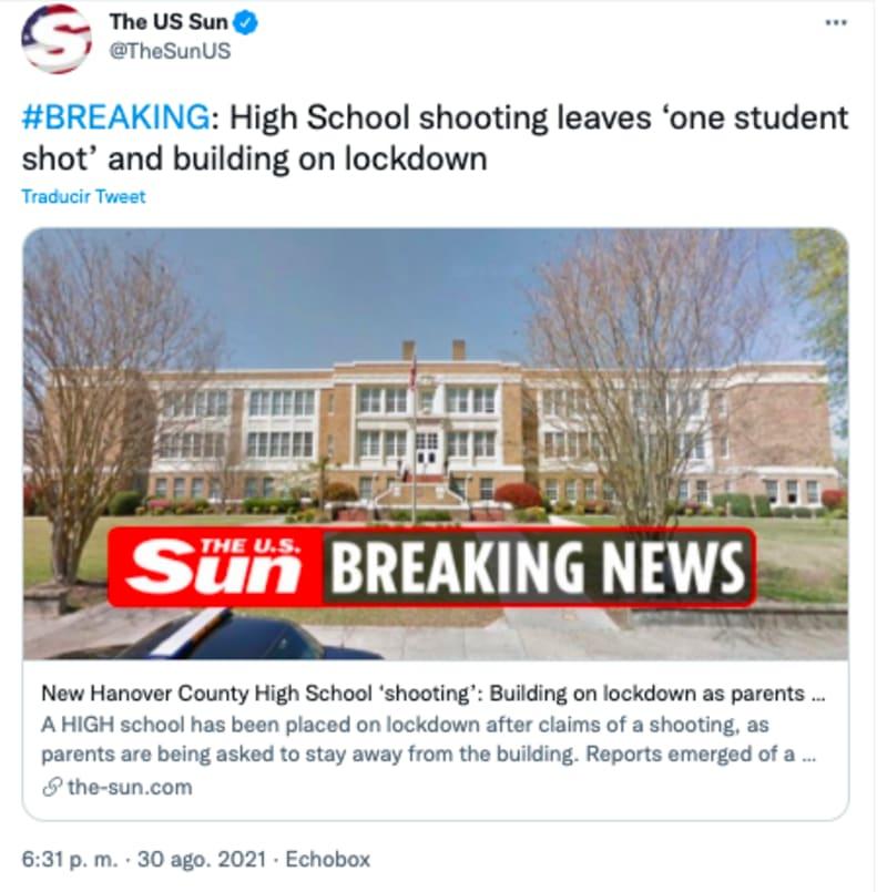 tiroteo escuela secundaria