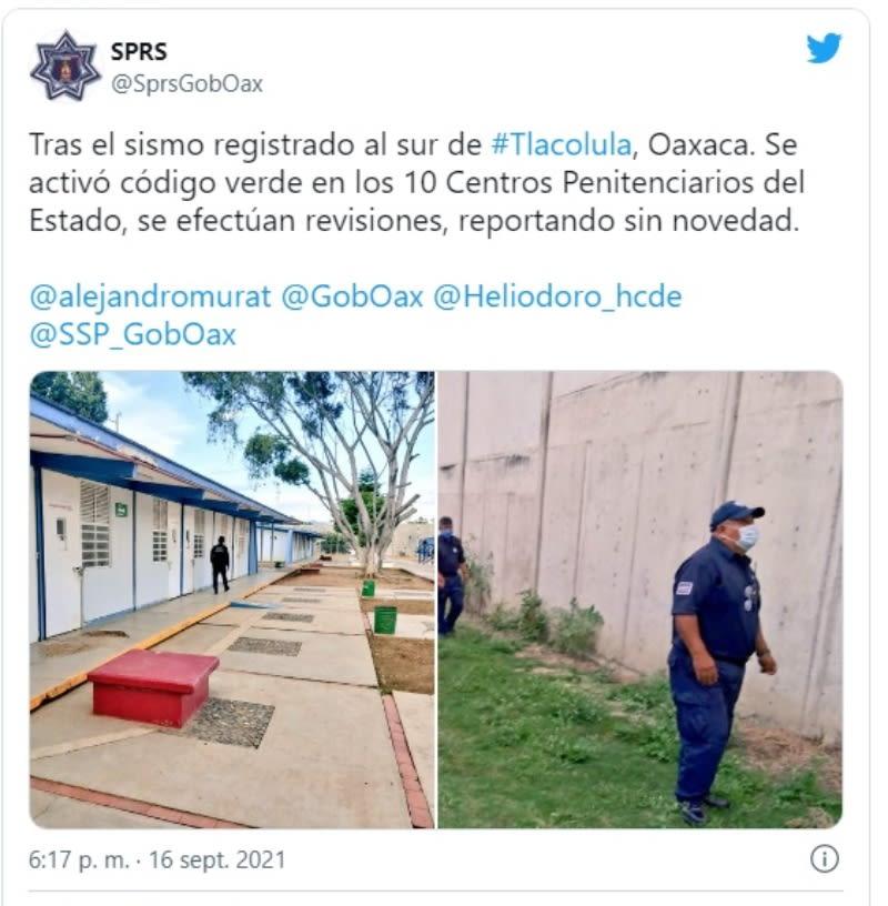 Sismo México Oaxaca: Código verde