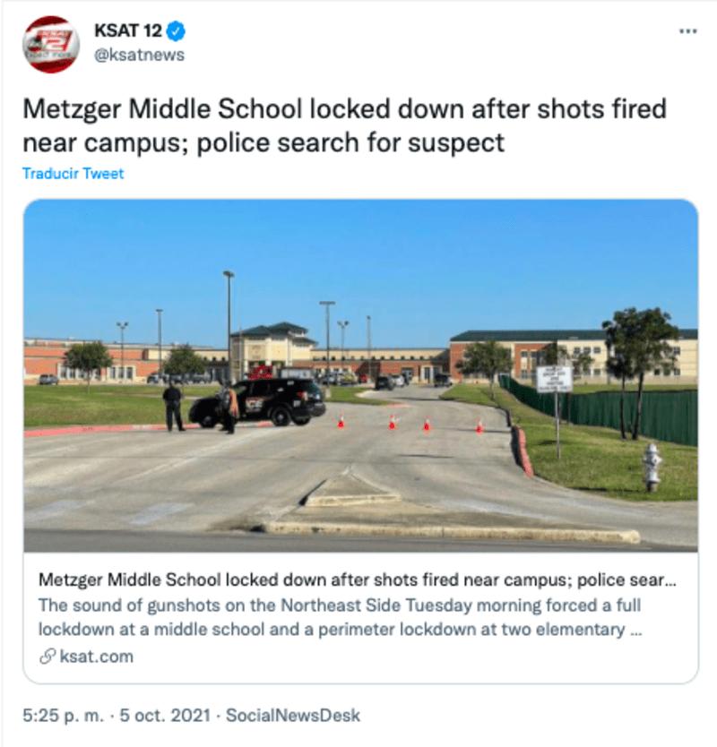tiroteo activo escuela