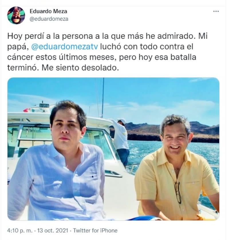 Muere productor Eduardo Meza: Su hijo revela posible causa de la muerte