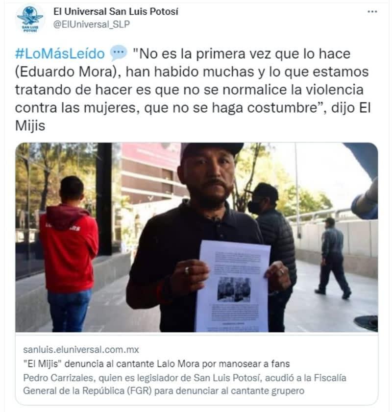 Denuncian al cantante Lalo Mora por 'manosear' a sus fans