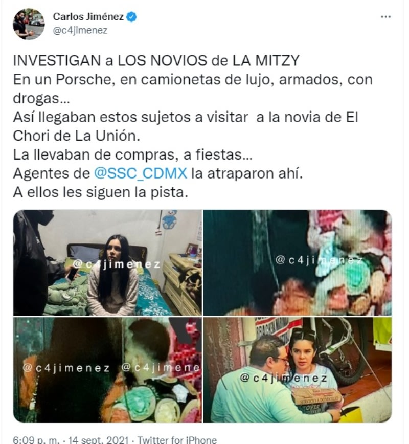 """Mitzy narco girlfriend union: They are already investigating """"a couple"""""""