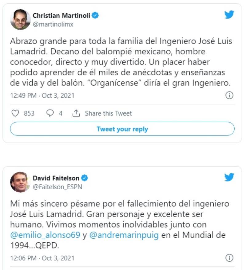 """Muere José Luis Lamadrid: """"Decano del balompié mexicano"""""""