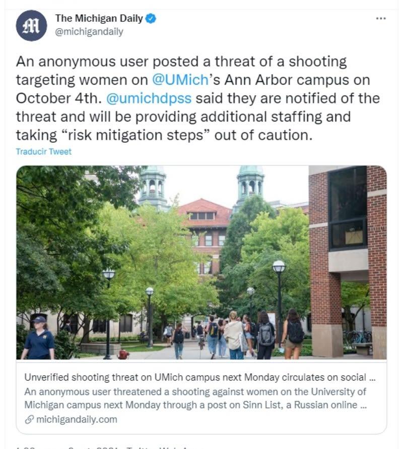 Tirador activo Universidad Michigan: Referencia a otros asesinos