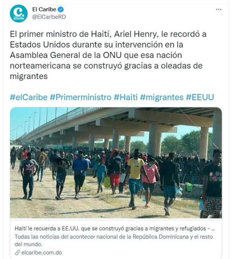 """Haití responde migrantes frontera: """"Los humanos siempre van a huir de la pobreza y de los conflictos"""""""