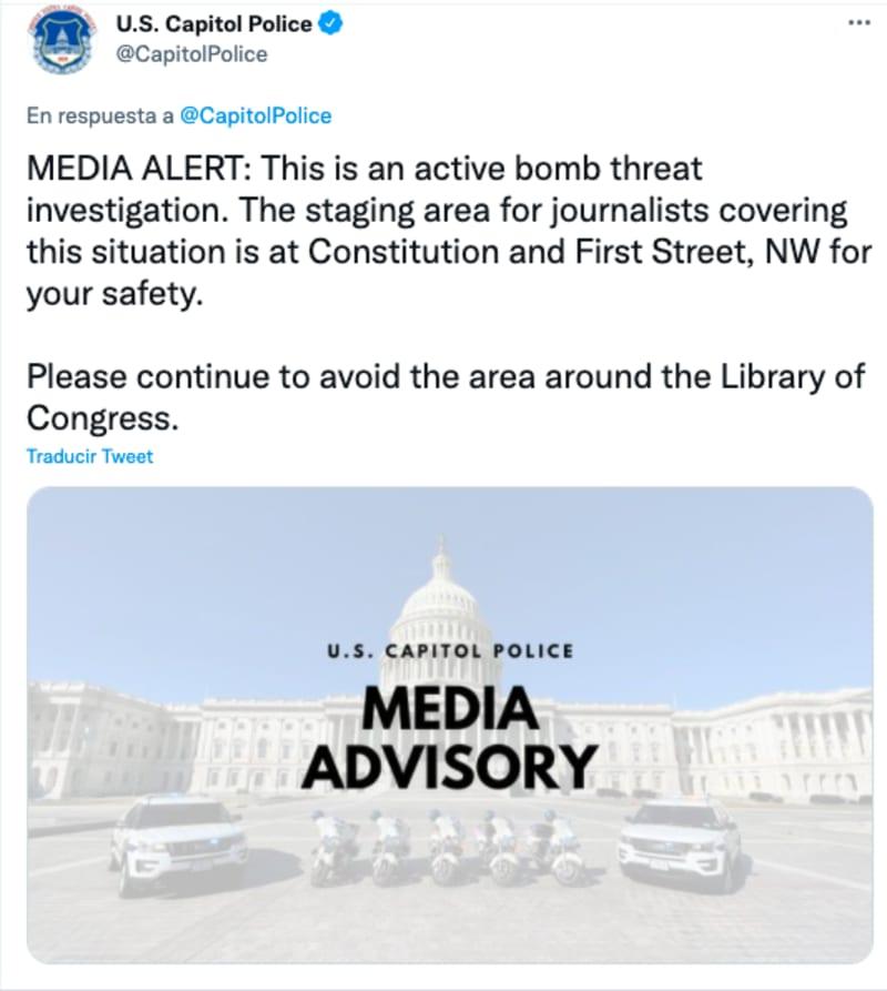 amenaza bomba capitolio