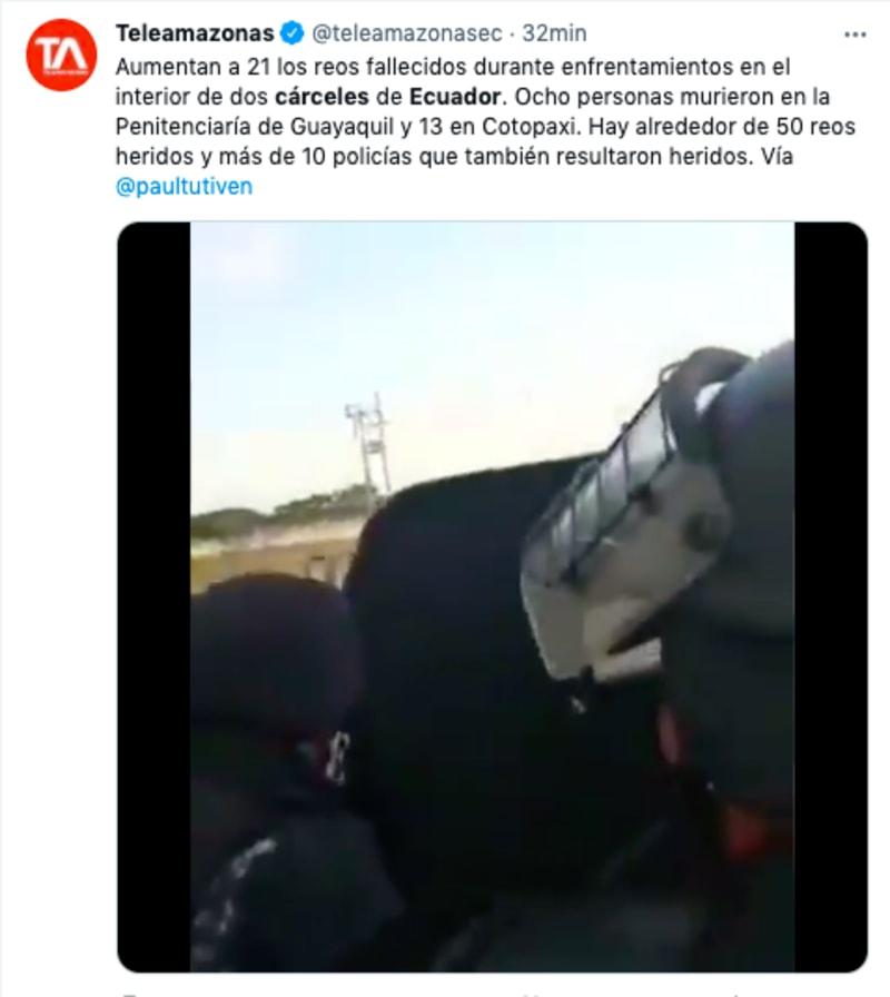 motines cárceles ecuador