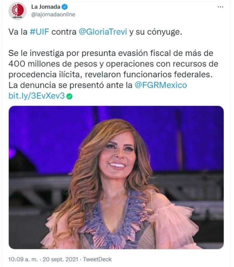 Gloria Trevi lavado dinero