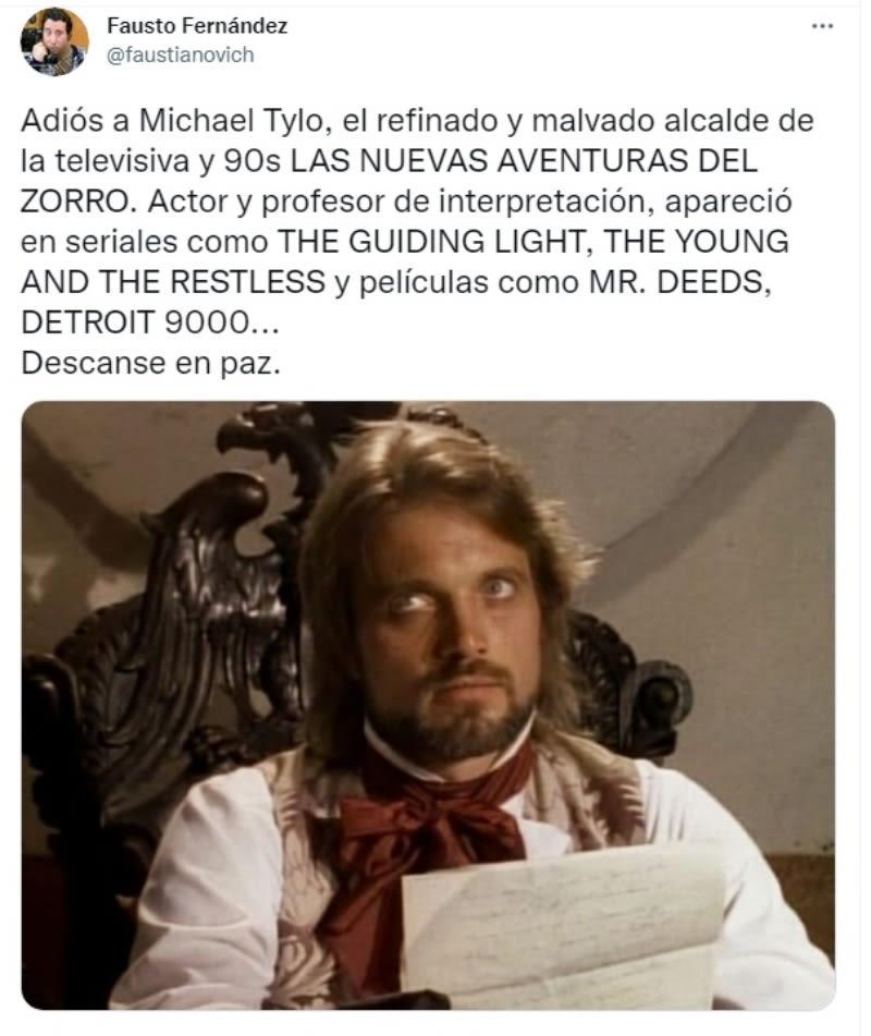 Muere actor Michael Tylo: Su vida personal