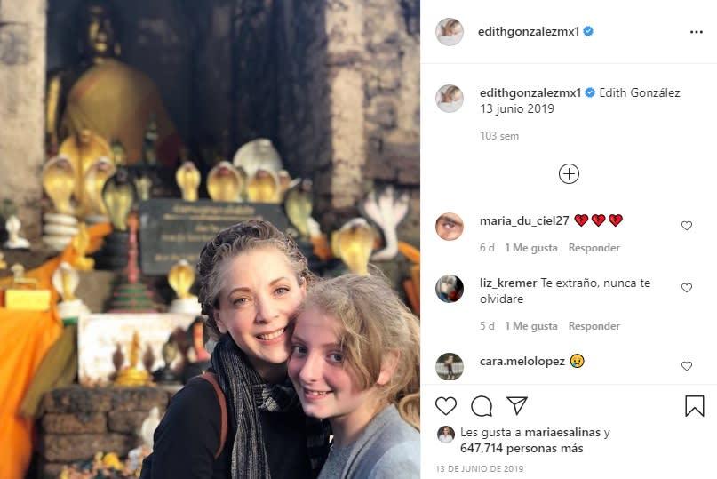 A casi dos años de la muerte de Edith González, su hija Constanza reaparece en redes sociales Creel González Santiago Creel Miranda