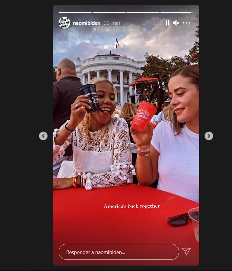 Naomi Biden festeja independencia: Celebran en la Casa Blanca