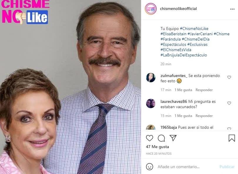 Vicente Fox hospitalizado coronavirus: Ya estaban vacunados