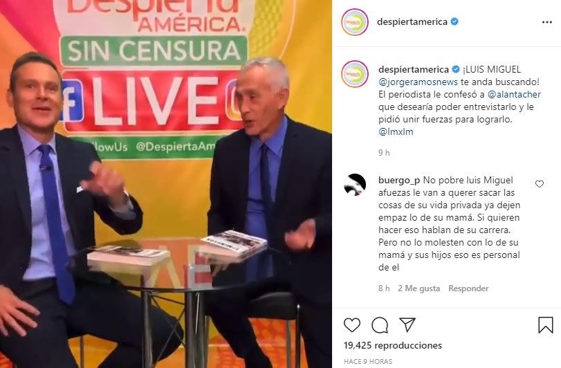 La inesperada confesión de Jorge Ramos a Chiqui Delgado es fan de Luis Miguel La Serie