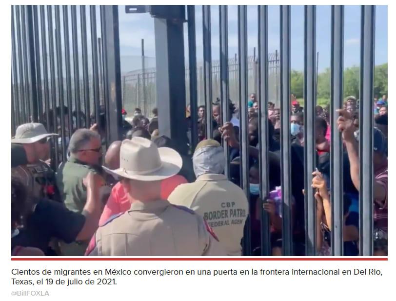 Los migrantes intentaron ayudar