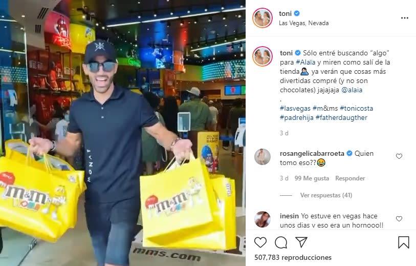 Toni Costa llena de regalos a Alaïa