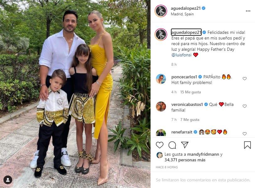 Águeda López felicitación a Luis Fonsi