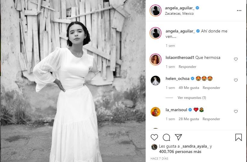 """Ahí donde me ven"": Ángela Aguilar"