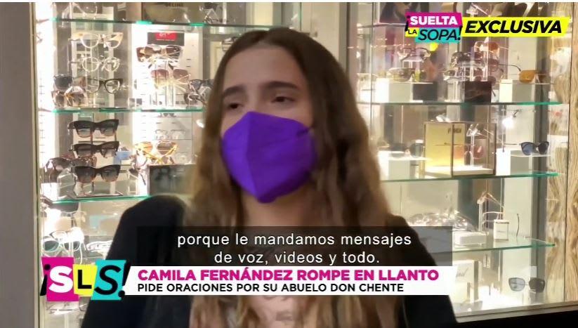 "Nieta llora Vicente Fernández: ""Recen por él"""