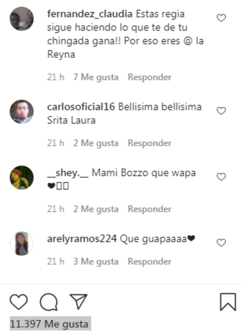 Los comentarios de gente que apoya a Laura, no se hacen esperar