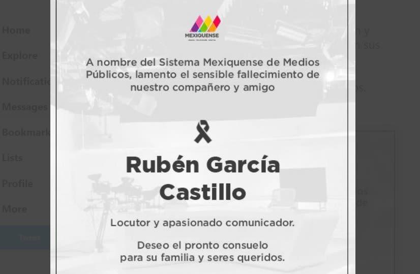 Muere Rubén García Castillo, famoso locutor de La Mano Peluda