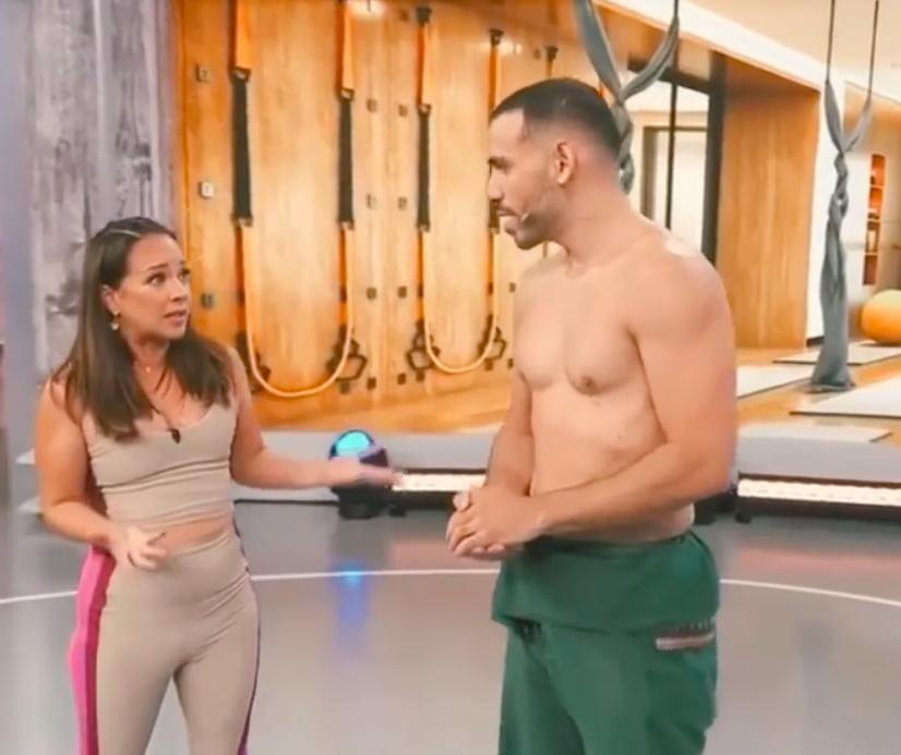 La boricua y el maestro de yoga