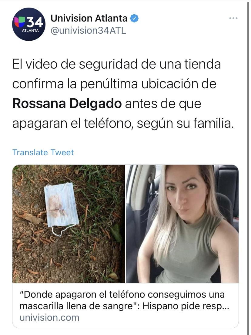 Rossana Delgado, hispana desaparecida