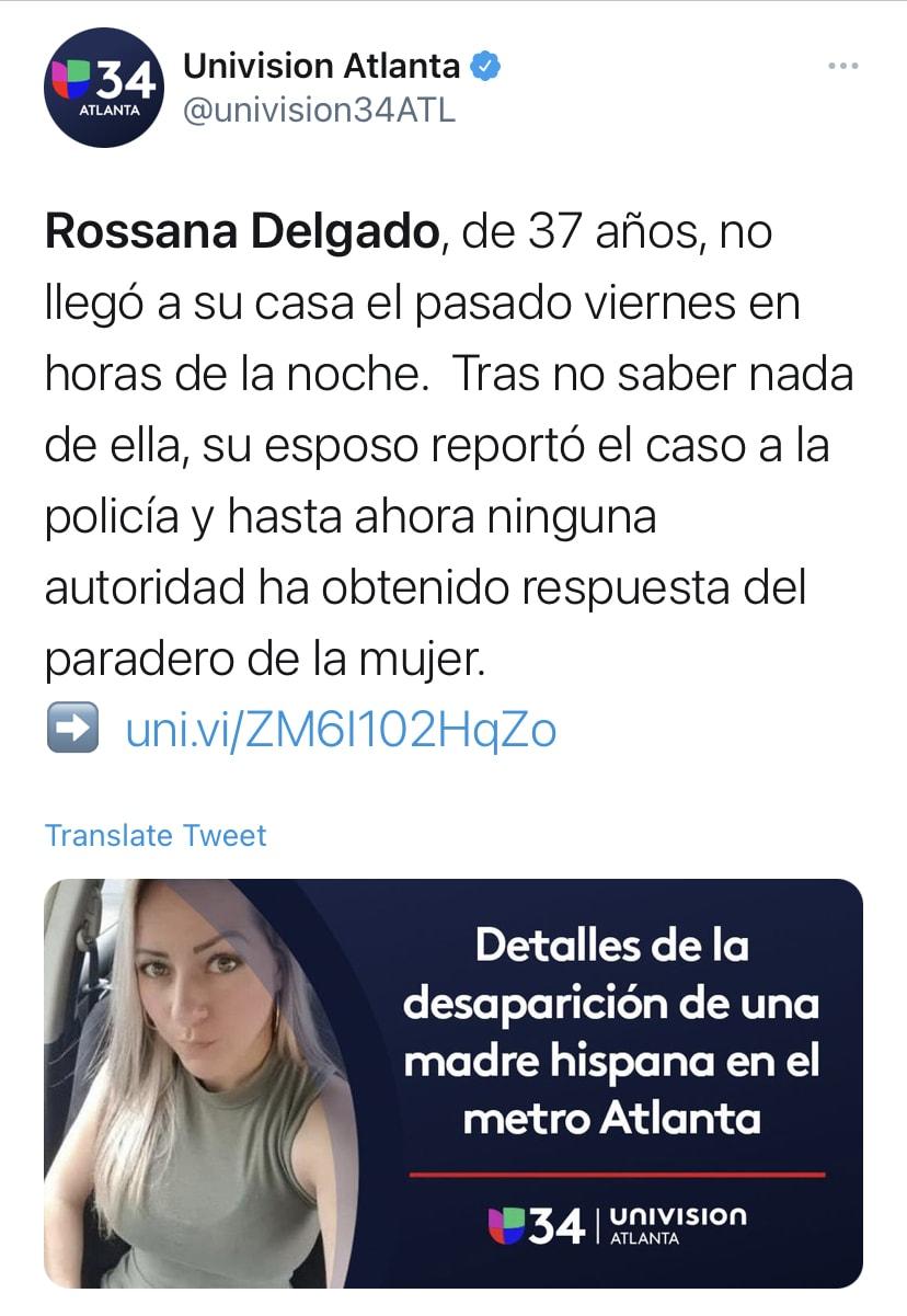 Rossana Delgado, hispana desaparecida tienda Ross